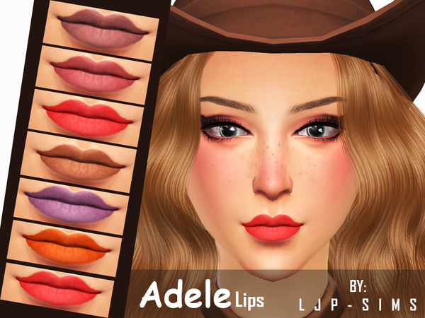 Sims 4 Adele Lips by LJP Sims at TSR