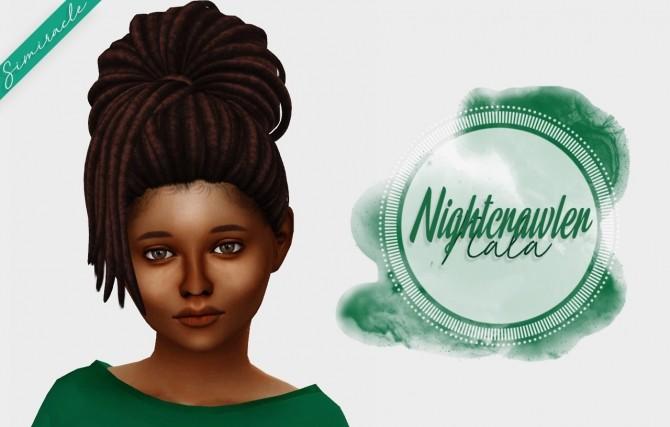 Sims 4 Nightcrawler Nala Hair Kids Version at Simiracle
