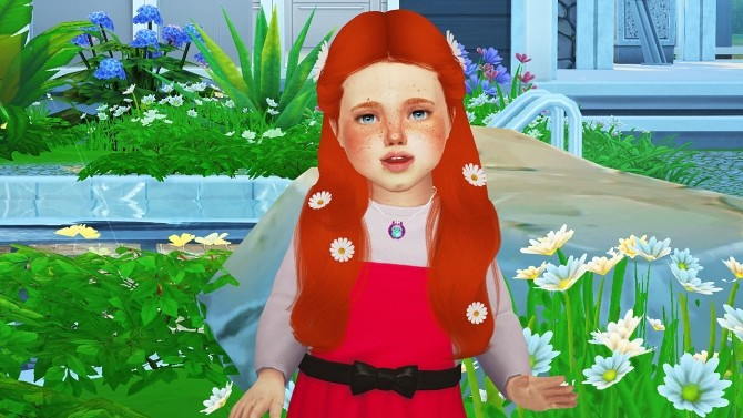 SIMPLICIATY LUST HAIR TODDLER VERSION by Thiago Mitchell at REDHEADSIMS image 3018 670x377 Sims 4 Updates