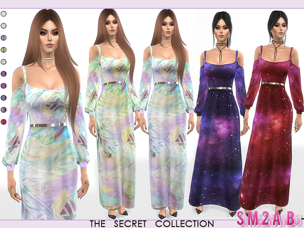 Sims 4 350 Dress With Open Sleeves by sims2fanbg at TSR