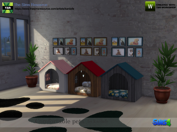Comfortable pet beds by kardofe at TSR image 3023 Sims 4 Updates