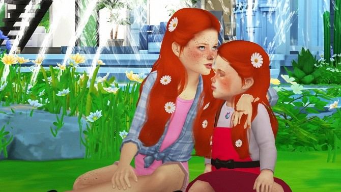 SIMPLICIATY LUST HAIR KIDS VERSION by Thiago Mitchell at REDHEADSIMS image 3032 670x377 Sims 4 Updates