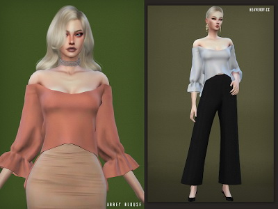Abbey Blouse by EnriqueSims at Heavendy cc image 3091 Sims 4 Updates