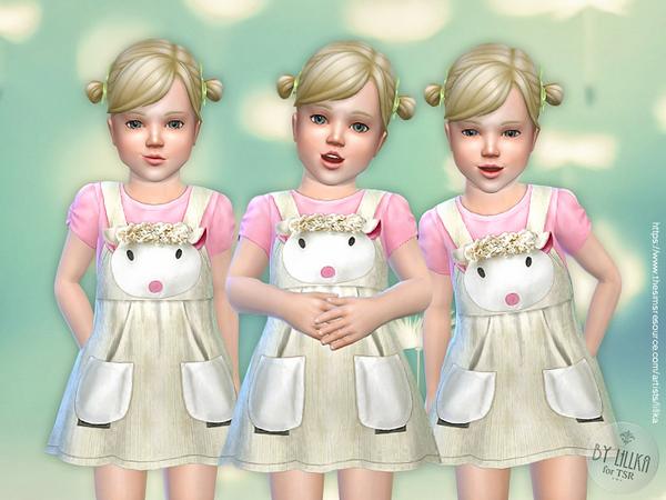 Sims 4 Lamb Dress T by lillka at TSR