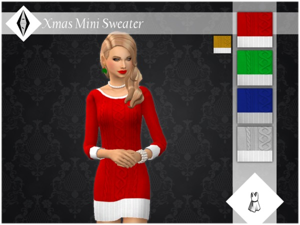 Xmas Mini Sweater FullBody by ALExIA483 at TSR image 3100 Sims 4 Updates