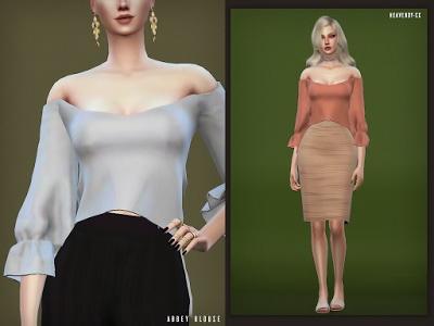 Abbey Blouse by EnriqueSims at Heavendy cc image 3101 Sims 4 Updates