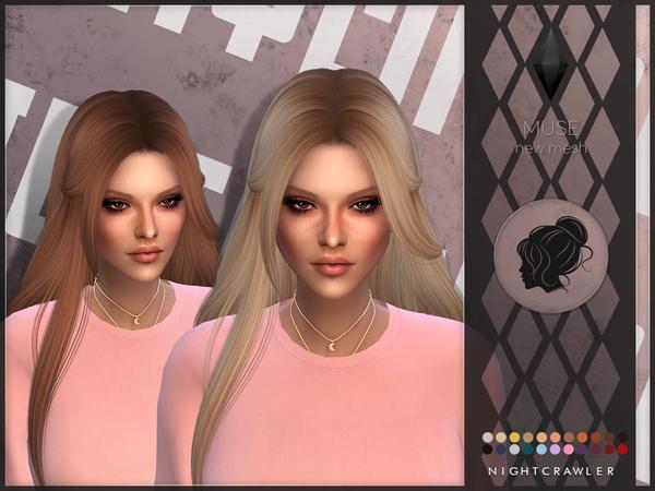 Sims 4 Muse hair by Nightcrawler at TSR