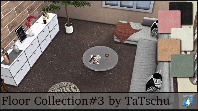 Sims 4 Stone Floor Collection at TaTschu`s Sims4 CC