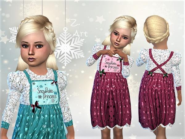 Sims 4 WinterbabeZ 07 glittering dress by Zuckerschnute20 at TSR