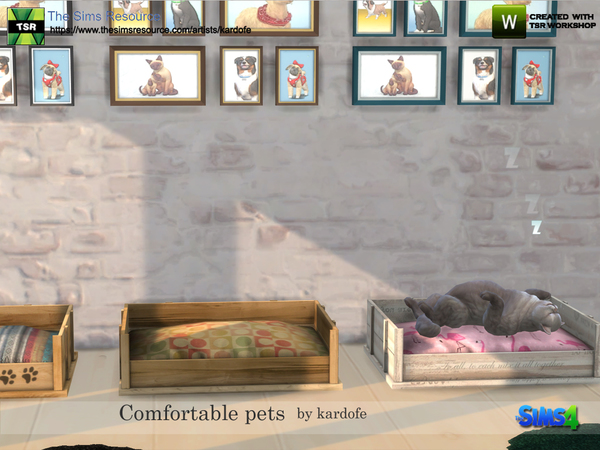 Comfortable pet beds by kardofe at TSR image 3223 Sims 4 Updates