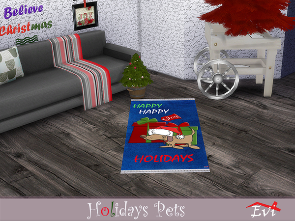 Sims 4 Holidays pets rugs by evi at TSR