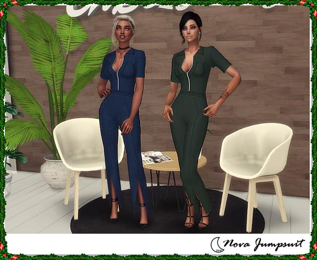 Sims 4 NOVA JUMPSUIT at Blue8white