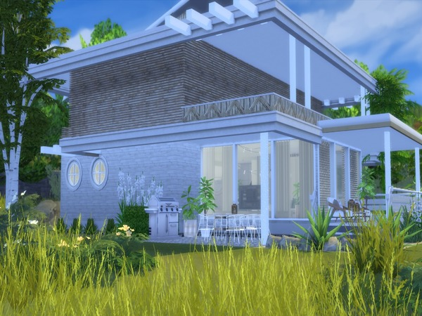 Adelia modern home by Suzz86 at TSR image 3314 Sims 4 Updates