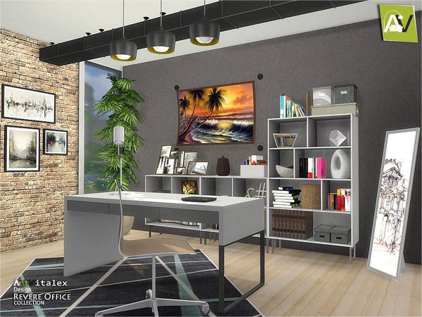 Revere Office by ArtVitalex at TSR image 3319 Sims 4 Updates