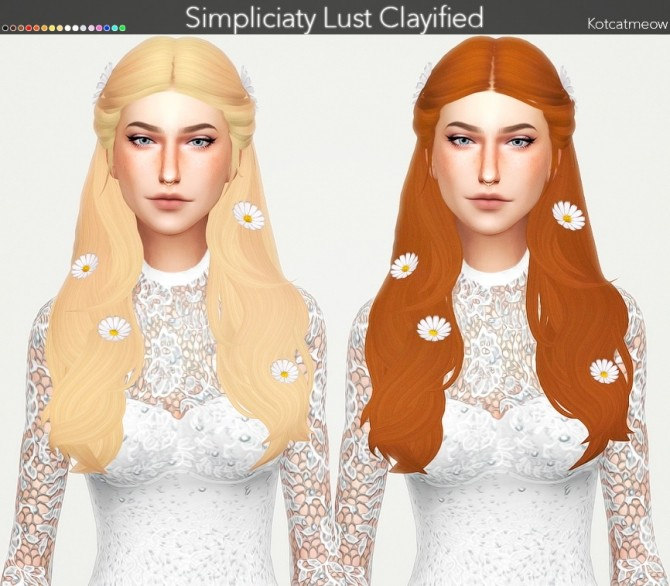 Sims 4 Simpliciaty Lust Hair Clayified at KotCatMeow