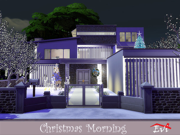 Christmas Morning modern house by evi at TSR image 338 Sims 4 Updates