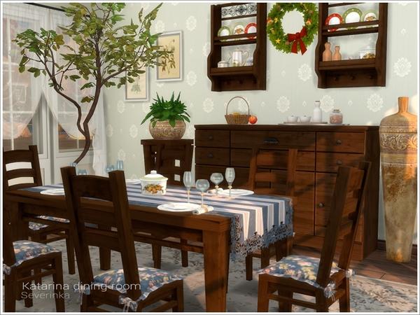 Sims 4 Katarina dining room at Sims by Severinka