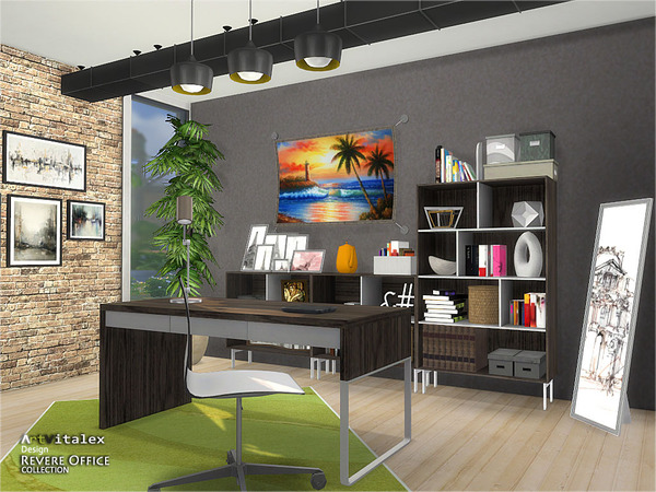 Revere Office by ArtVitalex at TSR image 3419 Sims 4 Updates