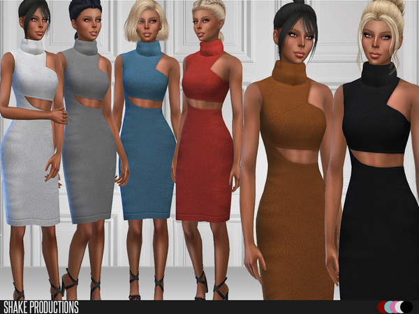 87 Knit Dress by ShakeProductions at TSR image 347 Sims 4 Updates