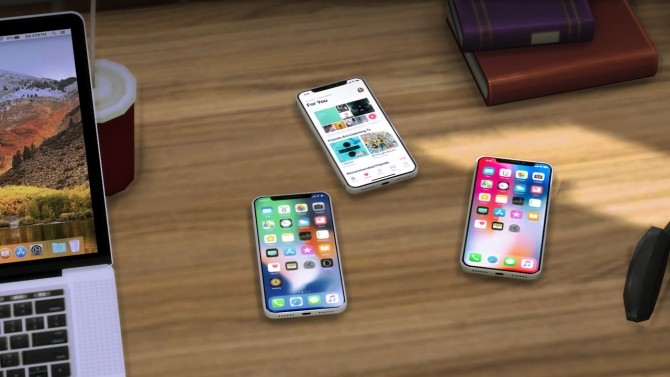 iPhone X Default Replacement, Clutter and Speaker at Moon image 3471 670x377 Sims 4 Updates