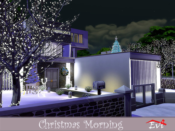 Christmas Morning modern house by evi at TSR image 348 Sims 4 Updates