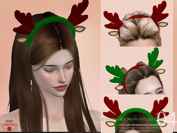 Sims 4 Headwear antlers 201704 by S Club WM at TSR