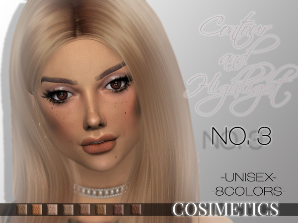 Sims 4 Contour and Highlight No. 3 by cosimetics at TSR