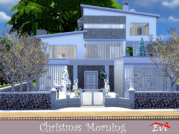 Christmas Morning modern house by evi at TSR image 358 Sims 4 Updates