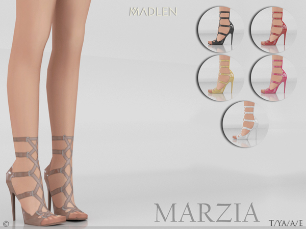 Sims 4 Madlen Marzia Shoes by MJ95 at TSR