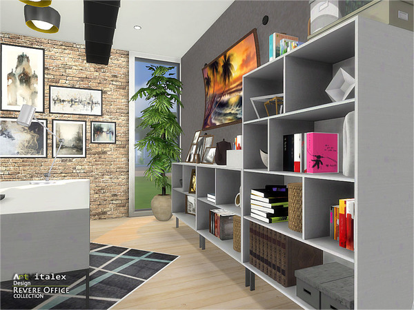 Revere Office by ArtVitalex at TSR image 3619 Sims 4 Updates