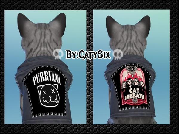 Sims 4 Ready to rock cat clothing V1 by CatySix at TSR