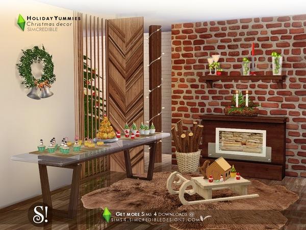 Sims 4 Holiday Yummies by SIMcredible at TSR
