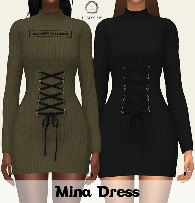 Sims 4 Mina Dress at Lumy Sims