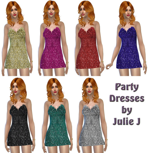 Party Dresses at Julietoon – Julie J image 3681 Sims 4 Updates
