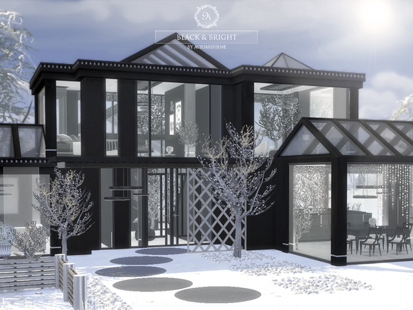 Black & Bright house by Aquarhiene at TSR image 371 Sims 4 Updates