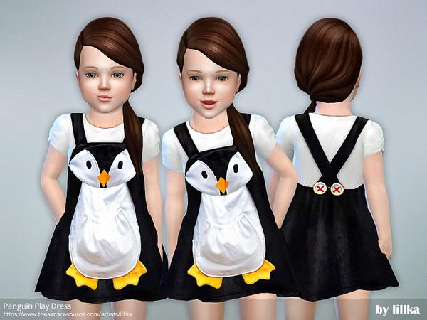 Penguin Play Dress by lillka at TSR image 3710 Sims 4 Updates