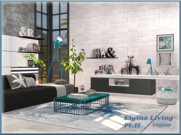 Sims 4 Eiyina Living Pt.II by ung999 at TSR