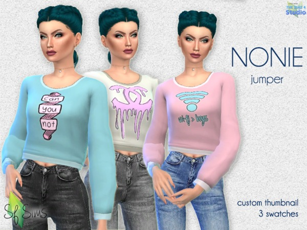 NONIE jumper by SF Sims at TSR image 372 Sims 4 Updates