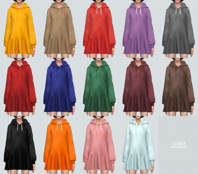 Sims 4 Hood Dress at Marigold