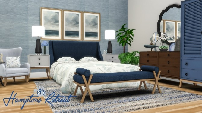 Hamptons Retreat Bedroom Addon Set at Simsational Designs image 3771 670x377 Sims 4 Updates