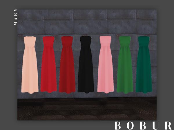 Sims 4 Mary Dress by Bobur3 at TSR