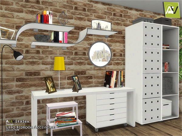 Sims 4 Uppo Bedroom Accessories by ArtVitalex at TSR