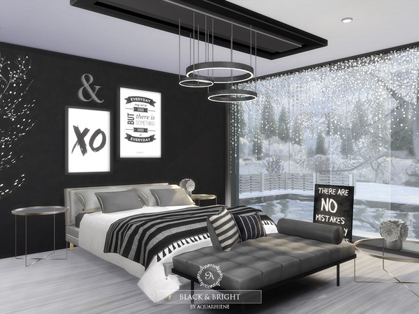 Black & Bright house by Aquarhiene at TSR image 391 Sims 4 Updates