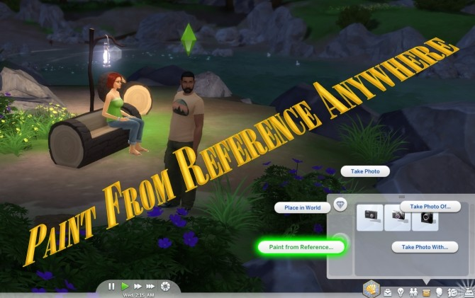 Sims 4 Paint From Reference Anywhere by scumbumbo at Mod The Sims