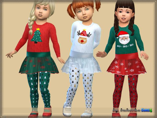 Sims 4 Christmas dress T by bukovka at TSR