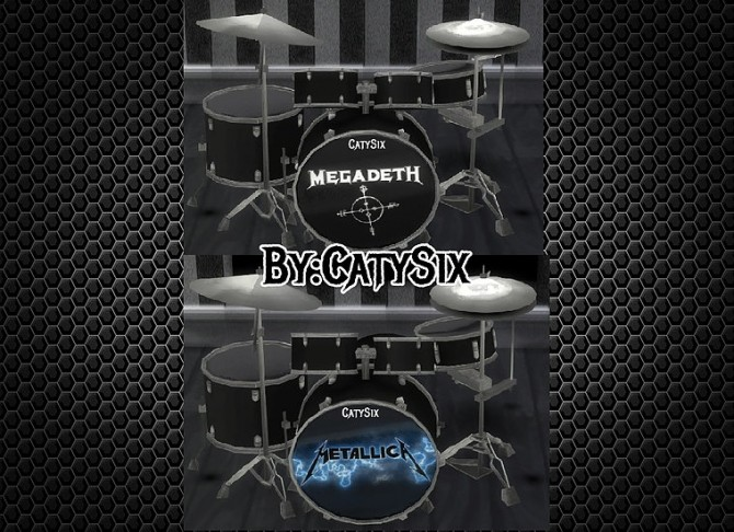 Playable Drums V2 at CatySix image 399 670x486 Sims 4 Updates