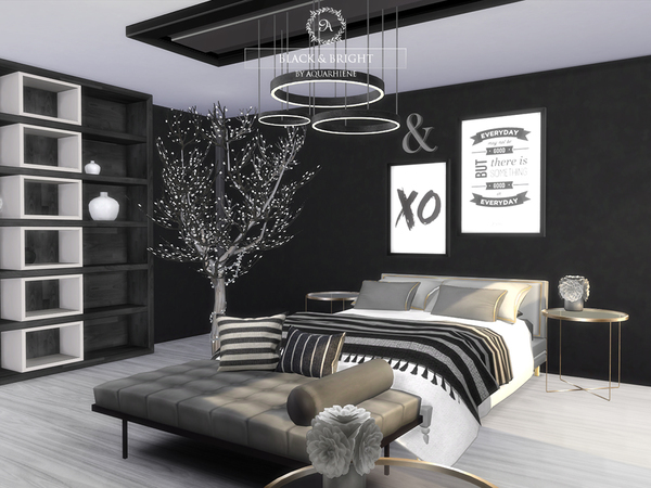 Black & Bright house by Aquarhiene at TSR image 401 Sims 4 Updates