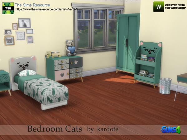 Sims 4 Bedroom Cats by kardofe at TSR
