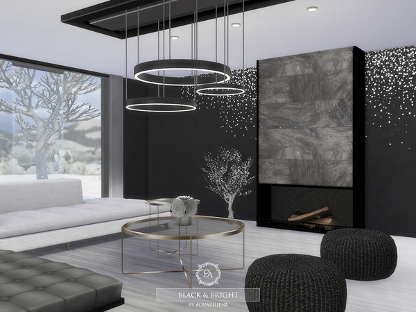 Black & Bright house by Aquarhiene at TSR image 411 Sims 4 Updates