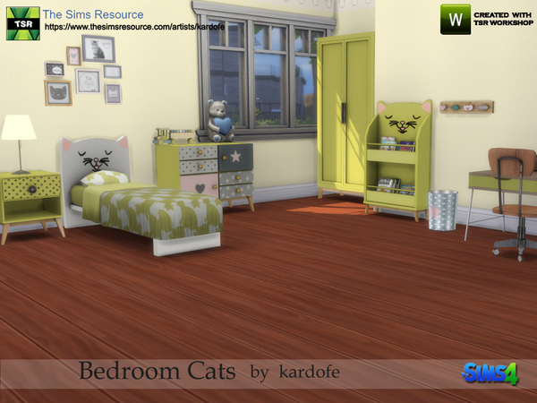 Bedroom Cats by kardofe at TSR image 4121 Sims 4 Updates